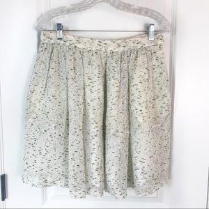 Chloé Light Green Pleated Bouclé Mini Skirt